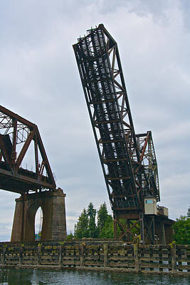 Photograph - Great Northern Railroad Bridge Seattle by Steven Lapkin