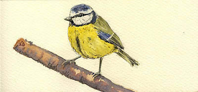 Great Painting - Great Tit by Juan  Bosco