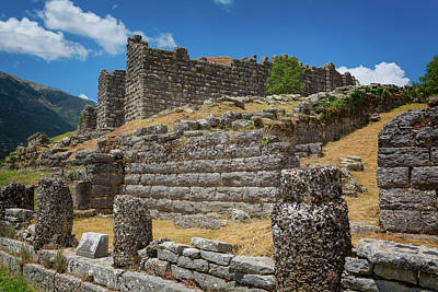 City Council Photograph - Greece, Epirus. Ruins Of Ancient by Panoramic Images
