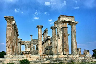 Photograph - Greek Temple Ruins by Gordon Elwell