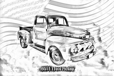 Photograph - Green 1951 Ford F-1 Pickup Truck  by Keith Webber Jr