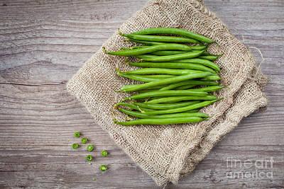 Green Beans Art Print by Sabino Parente