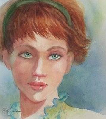 Painting - Green Eyes by Marilyn Jacobson