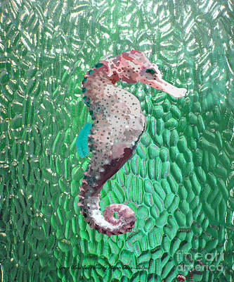 Digital Art - Green Glass Sea Horse by Megan Dirsa-DuBois