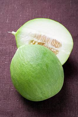 Green Honeydew Melon, Halved Art Print
