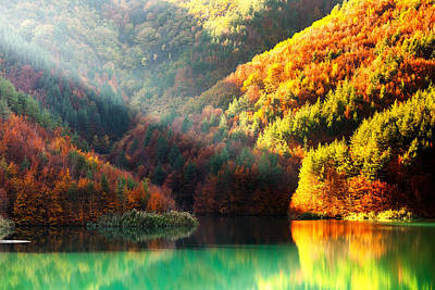 Rhodope Mountains Photograph - Green Lake by Evgeni Dinev