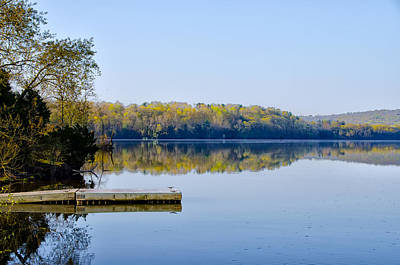 Green Lane Reservoir Art Print by Bill Cannon