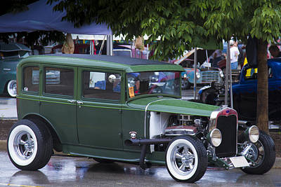 Photograph - Green Limo by Jack R Perry