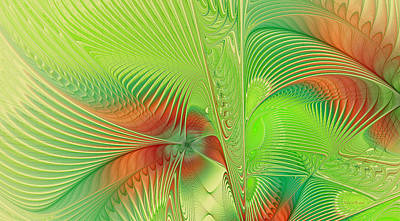 Generative Digital Art - Green Machine by Deborah Benoit