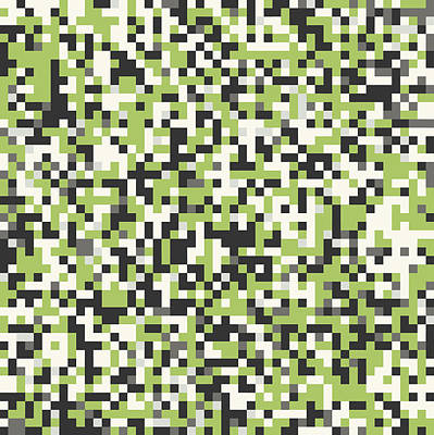 Digital Art - Green Pixel Art by Mike Taylor