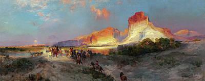 Wyoming Painting - Green River Cliffs Wyoming by Thomas Moran