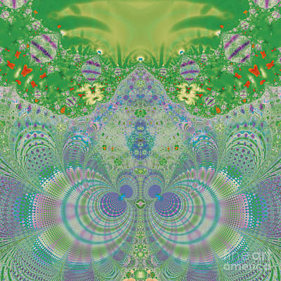 Digital Art - Green Spring by Design Windmill