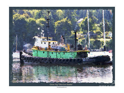 Photograph - Green Tug by Kenneth De Tore