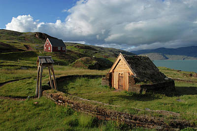 Leif Photograph - Greenland, Erik's Fjord, Brattahlid by David Noyes