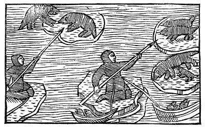 Ice Floe Painting - Greenland Eskimos, 1555 by Granger