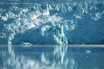 Glacier Reflections Photograph - Greenland, Qaleraliq Glacier by David Noyes