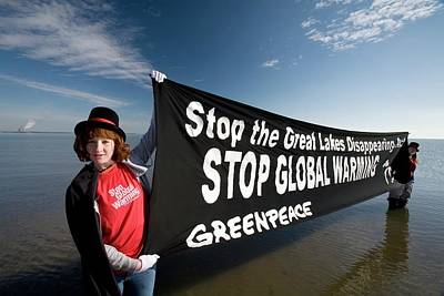 Greenpeace Campaigners Art Print by Jim West