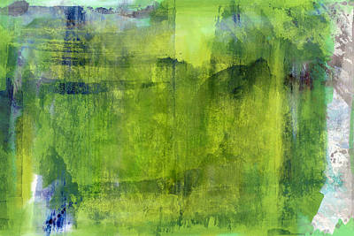 Digital Painting - Greens by Modern Art Prints