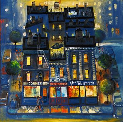 Russian Icon Painting - Greenwich Village  New York by Mikhail Zarovny