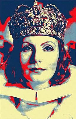 Ruff Mixed Media - Greta Garbo In Queen Christina by Art Cinema Gallery