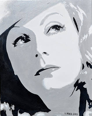 Greta Garbo Painting - Greta Garbo by Victor Minca