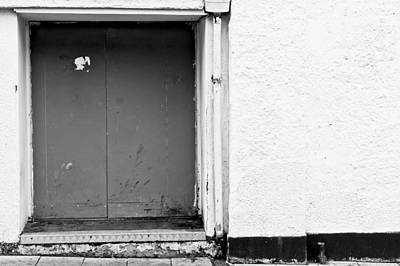 Grey Door Print by Tom Gowanlock