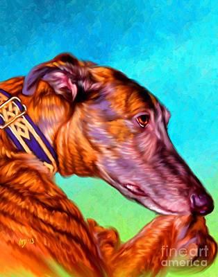 Greyhound Art Art Print by Iain McDonald