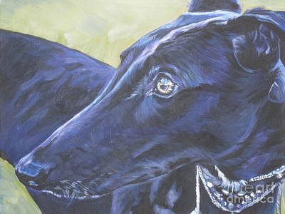 Rescued Greyhound Painting - Greyhound by Lee Ann Shepard