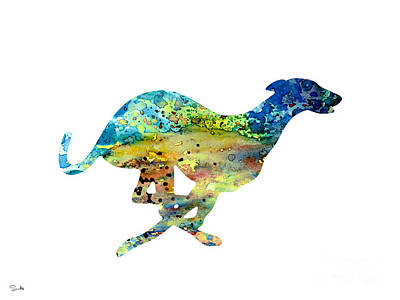 Greyhound Painting - Greyhound  by Luke and Slavi