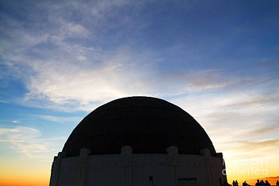 Griffith Observatory In Los Angeles Hollywood California At Suns Art Print by ELITE IMAGE photography By Chad McDermott