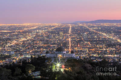 Photograph - Griffith Observatory Los Angeles by Shishir Sathe