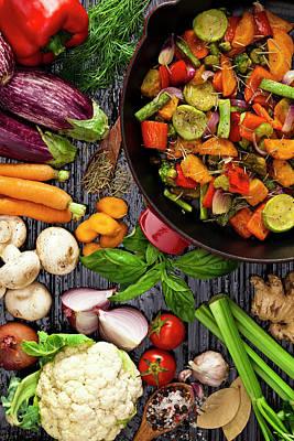 Grilled Vegetables Art Print by Fcafotodigital