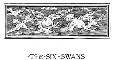 Swan Drawing - Grimm The Six Swans by Granger