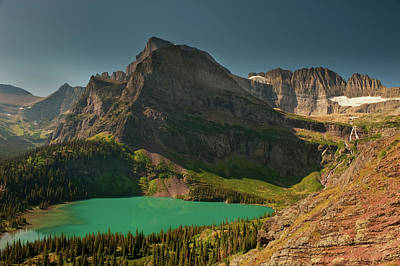 Grinnell Lake And Mount Gould, Glacier Art Print