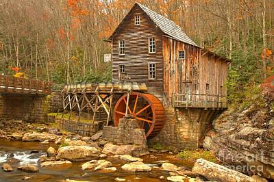Old Mills Photograph - Grist Mill On Glade Creek by Adam Jewell