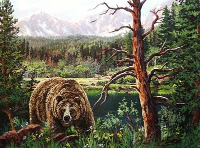 Painting - Grizzley by W  Scott Fenton