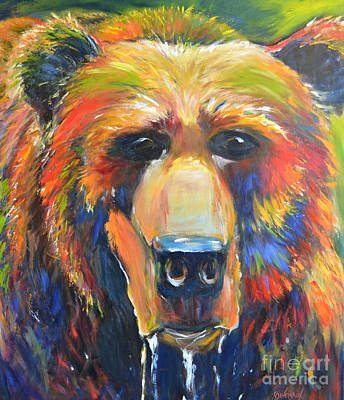 Wild Horse Painting - Grizzly by Cher Devereaux