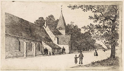 Stark Drawing - Grote Kerk Vreeland, The Netherlands, Elias Stark by Elias Stark