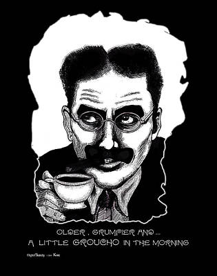 Groucho Marx Mixed Media - Groucho In The Morning by Christopher Korte