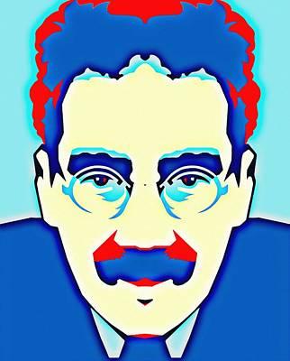 Groucho Marx Mixed Media - Groucho Marx by Art Cinema Gallery
