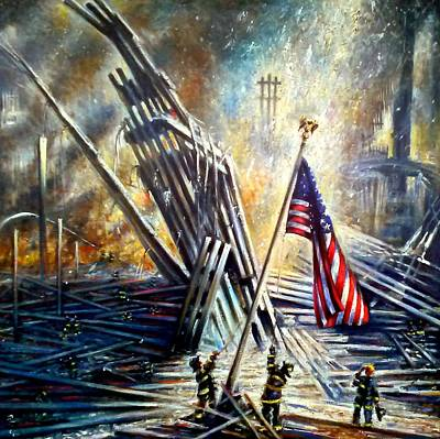 Painting - Ground Zero 911  by Philip Corley