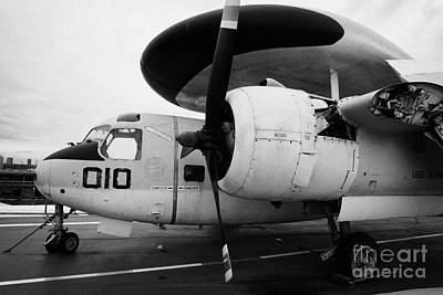 Grumman E1b E1 Tracer On Display On The Flight Deck Of The Uss Intrepid Art Print by Joe Fox