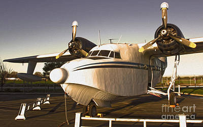Grumman G-64 Albatross Uh16 Print by Gregory Dyer
