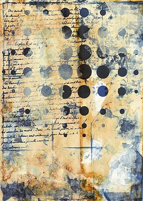 Copy Mixed Media - The Memory Remains - Vintage Style Modern Graphic Abstract by Modern Art Prints