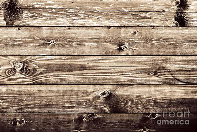 Wooden Photograph - Grunge Rustic Wood Wall Background by Michal Bednarek
