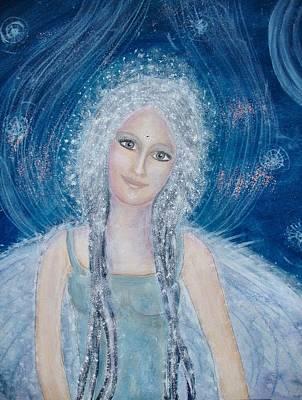 Engel Painting - Guardian Of Telos by Lila Violet
