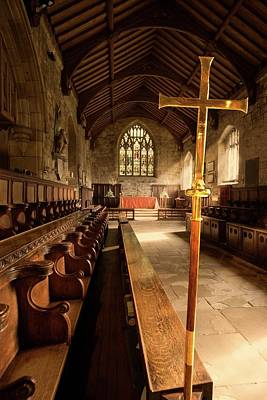 Guisborough, England  Interior Of Chapel Art Print by John Short