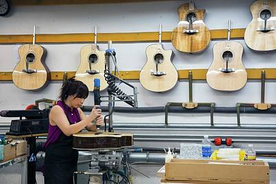 Hand Made Photograph - Guitar Factory by Jim West