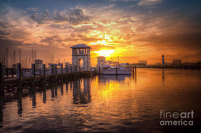 Gulfport Harbor Art Print