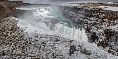 World Peace Photograph - Gullfoss Waterfall, Golden Falls by Panoramic Images